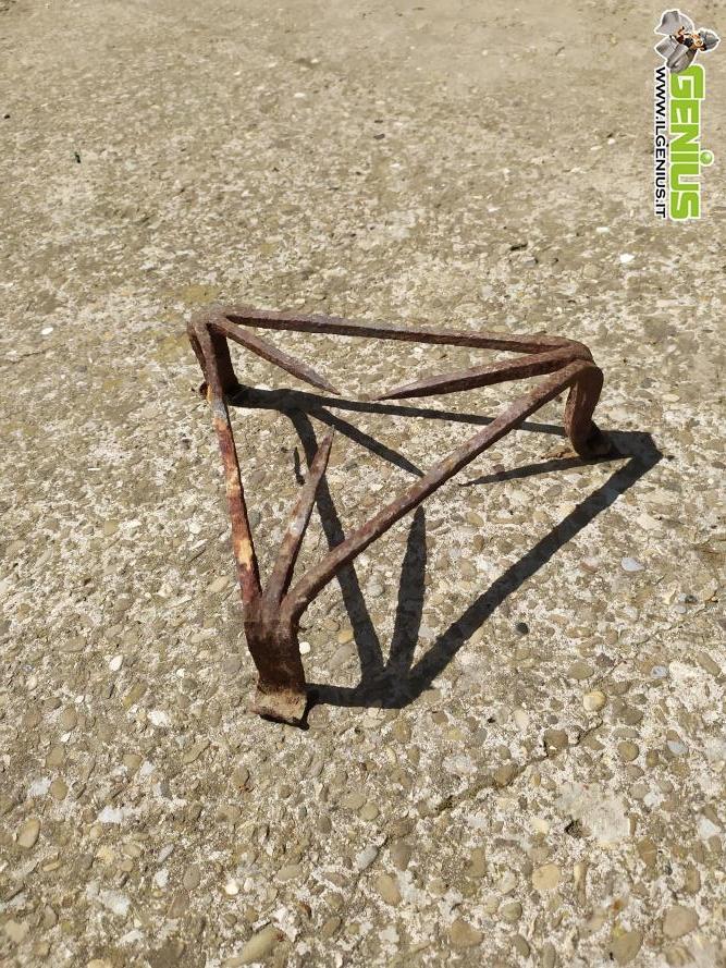 Alzata-alzatina-base appoggio appoggia paiolo, in ferro ...